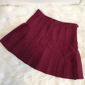Original American Apparel burgundy tennis skirt.